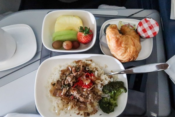 Delta ONE A330 Breakfast
