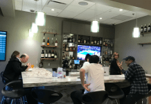 Reno Airport Escape Lounge bar