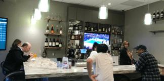 Reno Airport Escape Lounge bar