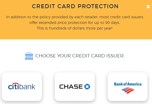 Earny credit card protection