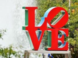 The Philadelphia LOVE sculpture