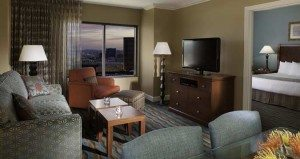 Hilton Grand Vacations Suites on the Las Vegas Strip living room