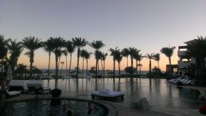Diamond Resorts Cabo Azul pool sunset