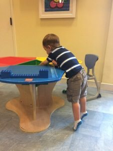 Marriott Grande Vista Orlando timeshare Timmy playing with blocks
