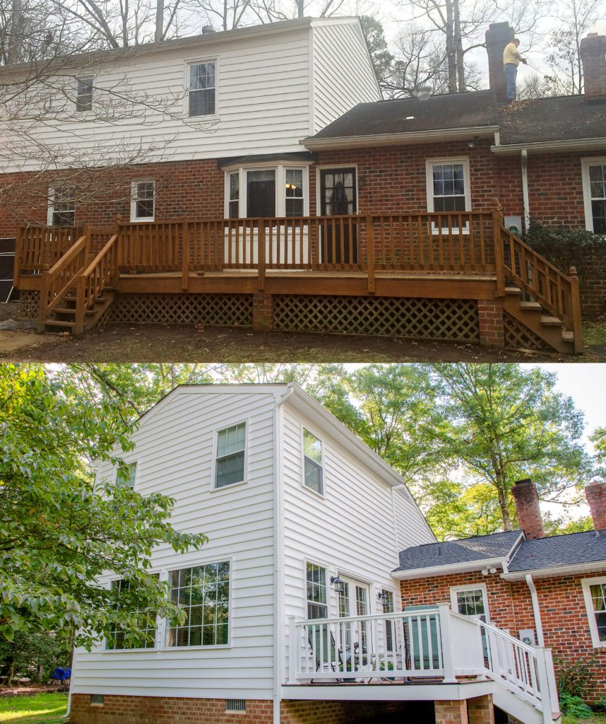 before and after two-story home addition