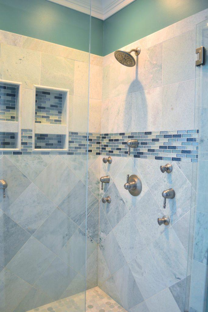 shower design body sprays custom tile