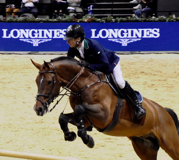 Denis Lynch avec Cristello vainqueur Goldene Trommel Longines CSI*****Basel 2020 Photo VB