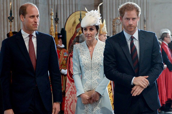 O príncipe William, a duquesa Kate Middleton e o príncipe Harry (Foto: WPA Pool / Getty Images)