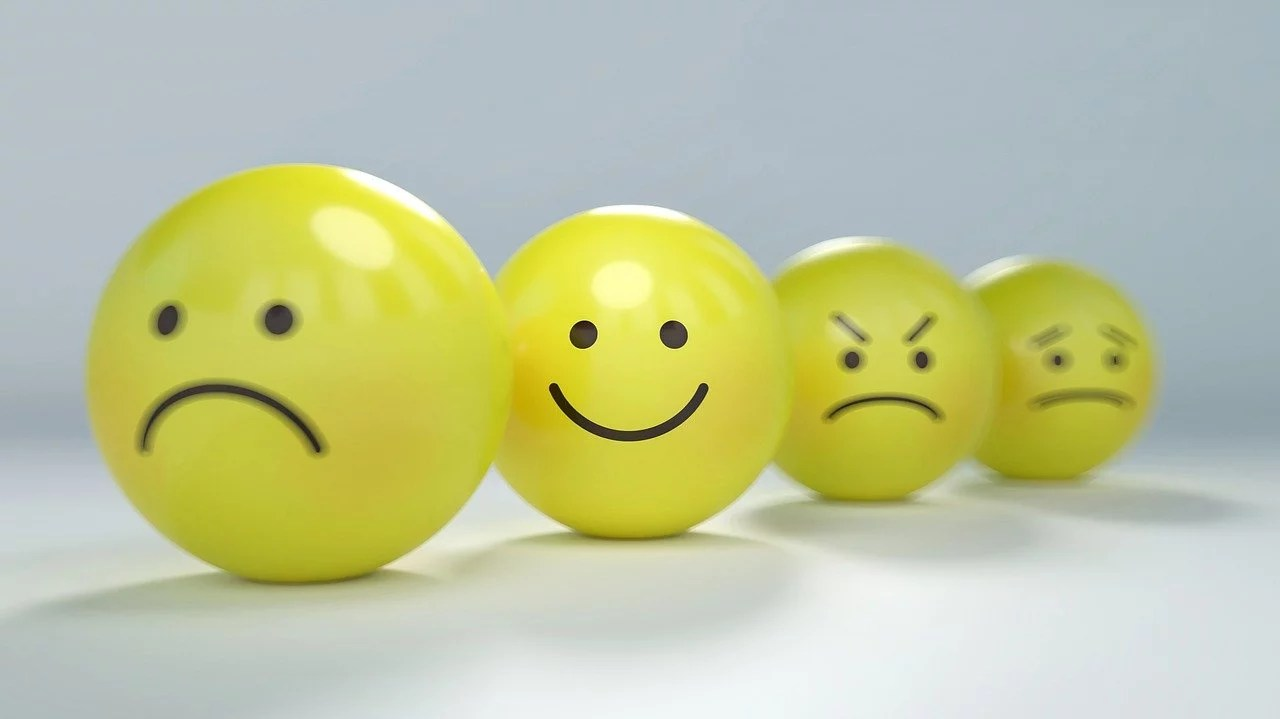 Icon smiley bahagia itu sederhana