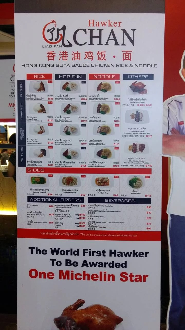 Hawker Chan di lantai 5 Terminal 21 Mall Bangkok