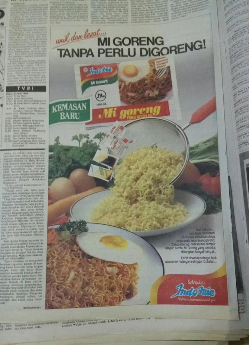 Iklan Indomie Goreng 1988