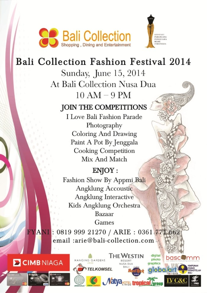 Flyer Bali Collection FASHION FESTIVAL 2014 - EMAIL