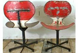 Oildrm1-18 Recycled Metal Oil Barrel Chairs Bali Indonesia