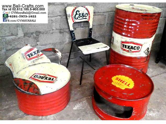oildrm1-2 Recycled Oil Drum Furniture