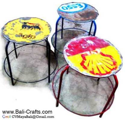 Oildrm1-21 Oil Drum Chairs For Sale Bali Indonesia