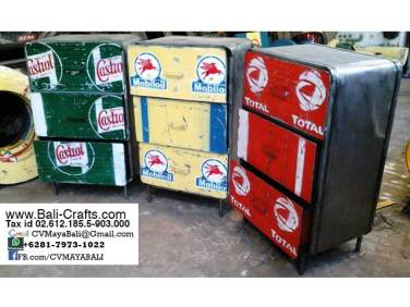 Oildrm1-3 Recycled Oil Drum Furniture Cabinets