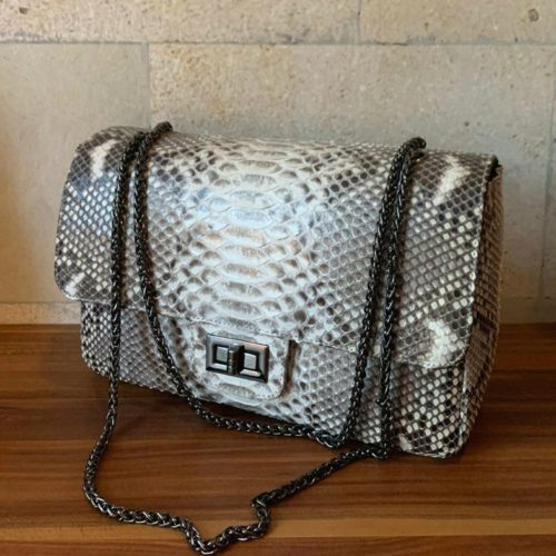 tas chanel phyton natural