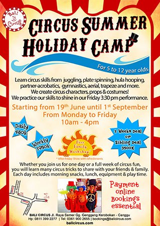 Bali Circus Circus Summer Holiday Camp 2017