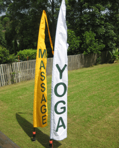 Bali Flags for Yoga