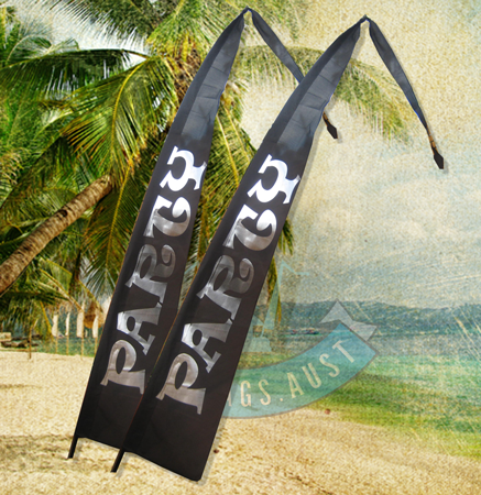 4m Bali Flag Poly/Cotton - Black