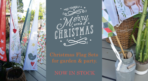 Decorate with Christmas Flags