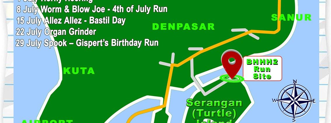 Next Run Map #1324 Gold Island Beach Club Serangan Sat 10-Jun-2017