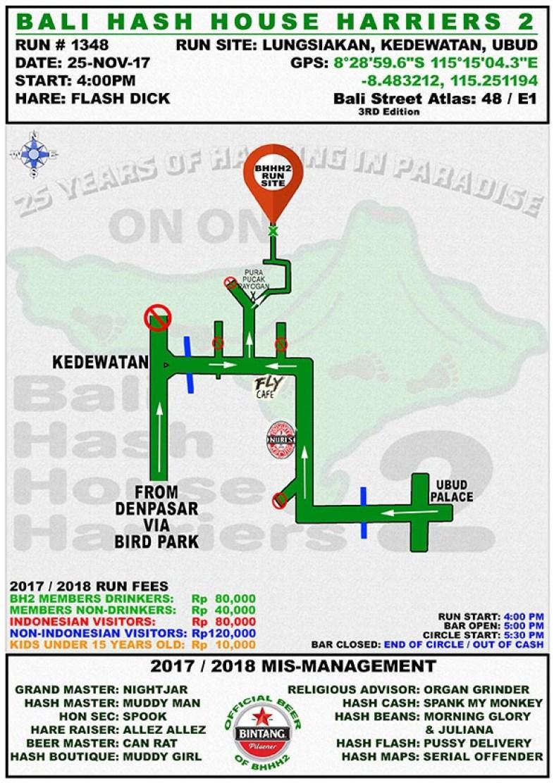 BHHH2 Run 1348 Lungsiakan Kedewatan Ubud 25-Nov-17
