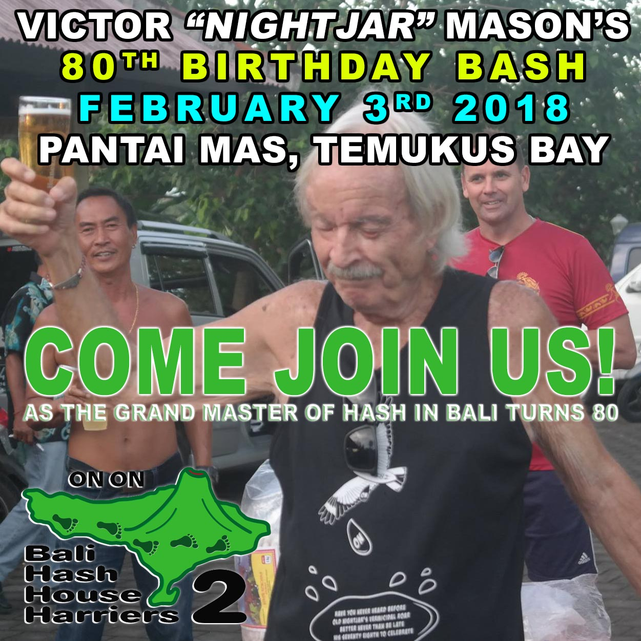 "Victor ""NightJar"" Masons 80th Birthday Bash"