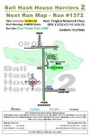 Bali Hash House Harriers 2 Next Run Map #1372 Pura Taman Pule, MAS, Ubud 12-Mei-18