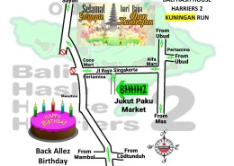 Bali Hash House Harriers 2 BHHH2 Next Run Map