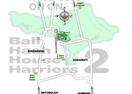 Bali Hash House Harriers 2 Next Run Map #1382 Singapadu Bali Zoo 21-Jul-18