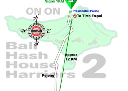 Bali Hash House Harriers 2 BHHH2 Run Map Run #1388 Tempaksiring Gianyar