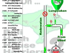 BHHH2 Next Run Map #1398 Lungsiakan Ubud 10-Oct-18