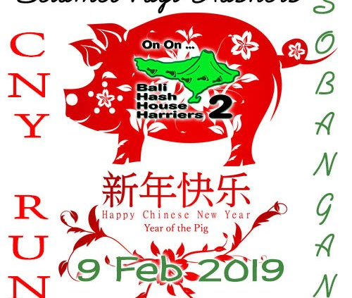 Bali Hash 2 2019 Happy Chinese New Year of the Pig