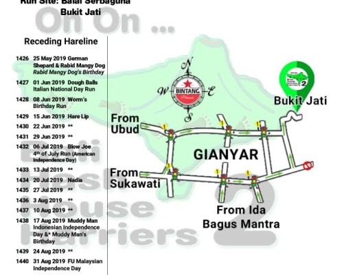 Bali Hash 2 Next Run Map #1425 Balai Serbaguna Bukit Jati