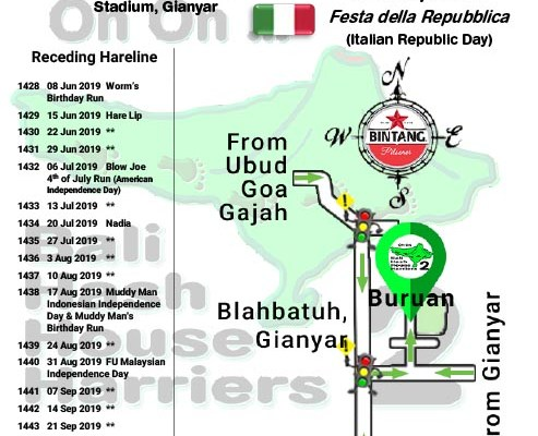 Bali Hash 2 Next Run Map #1427 Kapten I Wayan Dipta Stadium, Gianyar