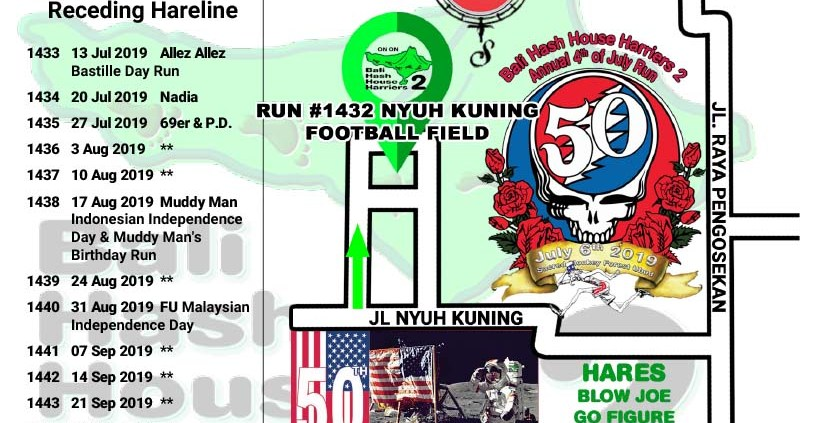 Update: Bali Hash 2 - 4th of July 2019 Run Starts 3:30PM