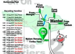 Bali Hash 2 Next Run Map #1436 Kolam Renang Tirtha Yasa Mambal