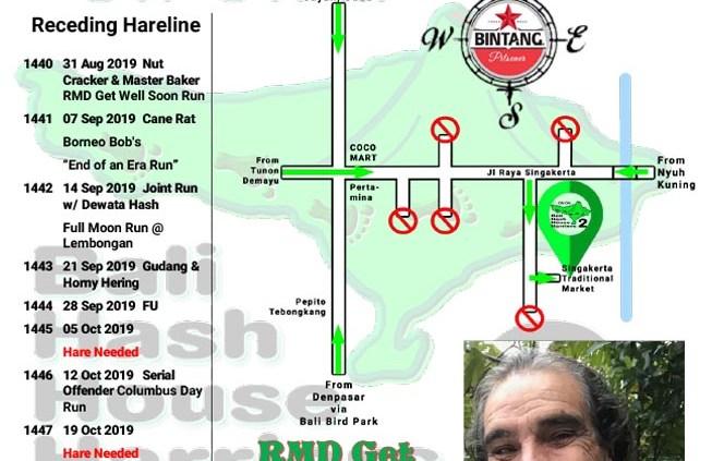 Bali Hash 2 Next Run Map #1440 Pasar Adat Singakerta