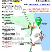 Bali Hash 2 Next Run Map #1442 Full Moon Run & Beach Party Tanis Lembongan