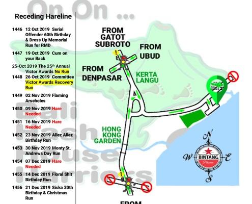 Bali Hash 2 Next Run Map #1445 Pantai Lembeng Ketewel