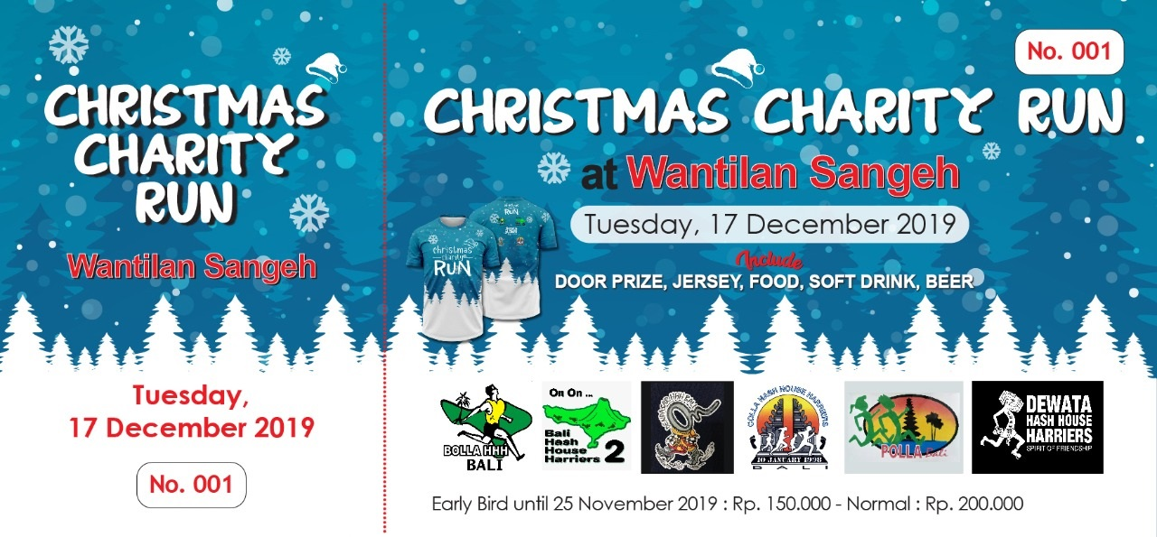 Christmas Charity Run Bali Hash 2