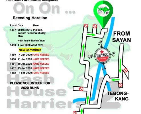 Bali Hash 2 Next Run Map #1456 Pura Dalem Bongkasa