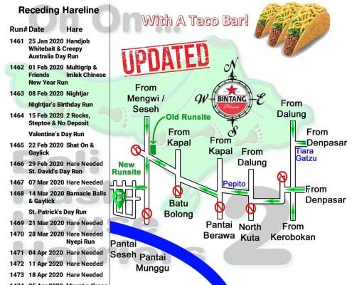 Bali Hash 2 Next Run Map #1460 Pantai Seseh Br Munggu