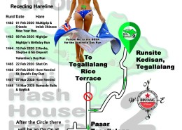 Bali Hash 2 Next Run Map #1461 Kedisan Tegallalang