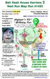 Bali Hash 2 Next Run Map #1463 Pura Merajapati Penestanan