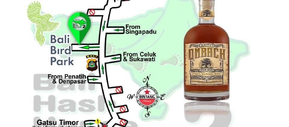 Bali Hash 2 Next Run Map #1471 Bali Bird Park
