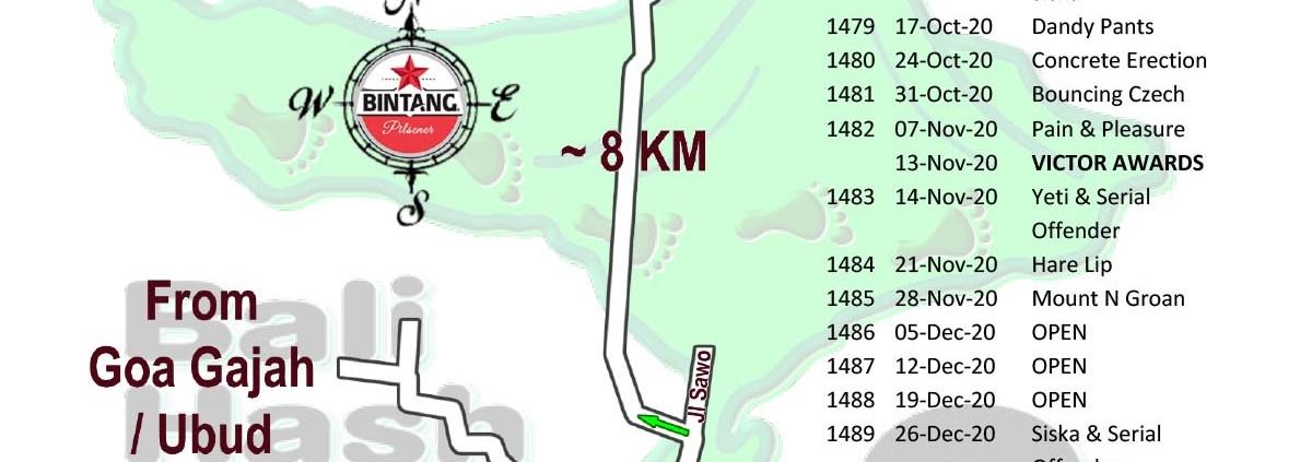 Bali Hash 2 Next Run Map #1474 Desa Sumita Gianyar