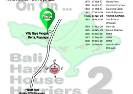 Bali Hash 2 Next Run Map #1478 Villa Grya Pengalu, Kerta, Payangan