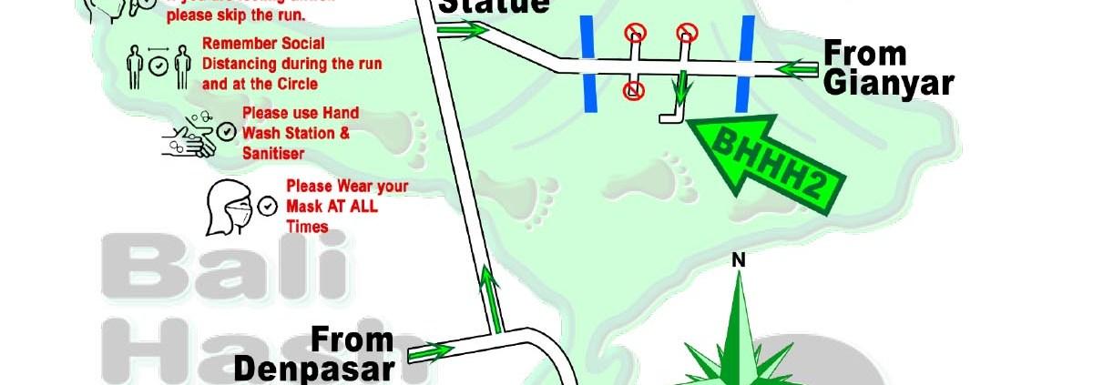Bali Hash 2 Next Run Map #1496 Kemenuh Monkey River Sukawati 22-May-21